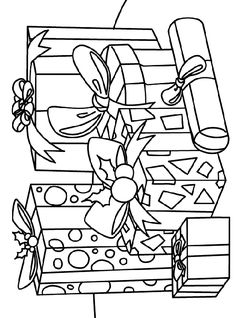 presents gifts coloring page
