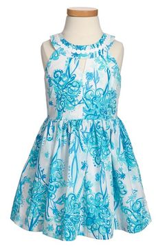 Lilly Pulitzer® 'Claude' Floral Print Sleeveless Dress (Little Girls & Big Girls) available at #Nordstrom