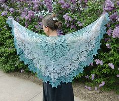 Alberta Shawl pattern by Anne-Lise Maigaard  Beautiful in solid or various colors
