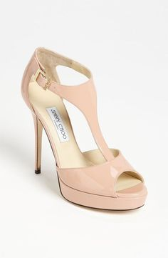 Best ideas for Jimmy Choo Totem T-Strap Sandal, posted on November 6, 2013 in Wedding Shoes
