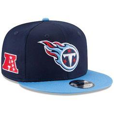 New Era Tennessee Titans Baycik Snapback Hat - Navy Blue Light Blue 005681a74ea7