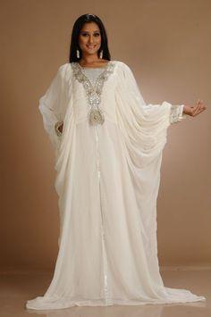 beautiful white kaftan dresses | Style By Moi