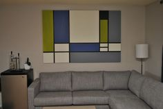 How to make your own DIY Mondrian painting