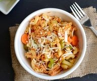 Buffalo Chicken Pasta Salad! This is delicious! Great to serve at a football party. Perfect for a packed lunch too. Click for the recipe and make up your spicy batch! I've already made this 2x and plan to many more.