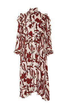 Pascale Shirred Ruffle Sleeve Dress by ELLERY for Preorder on Moda Operandi