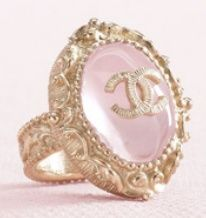 gorgeous Chanel ring | ♥ pink gold ♥