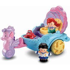 Fisher-Price Little People Disney Princess Ariel's Coach - Walmart $24