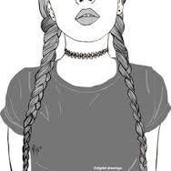 Resultat d'imatges de dibujos faciles de chicas tumblr