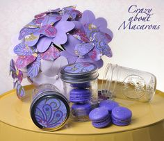French Macarons in a jar #macarons