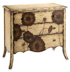 Poppy 3-Drawer Accent Chest #drawer#distressed#chest