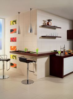 Product: wall tiles MÓNACO, setting: kitchen