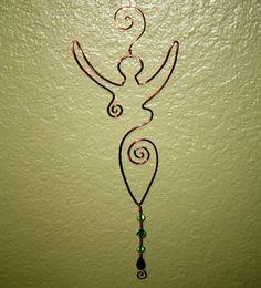 Goddess Wire Art - Copper
