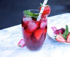 Strawberry-Mint Iced Tea