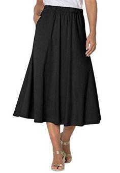 d42d1f73ecc Women s Plus Size 7-Day Knit A-Line Skirt Black