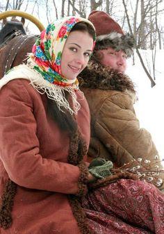 girl in Russian Pavlovsky Posad