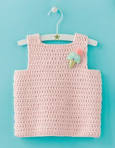 Knitting For Kids, Crochet For Kids, Débardeurs Au Crochet, 4 Kids, Couture, Baby, Outfits, Catalogue, Sorbet