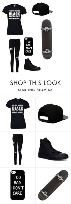 """Untitled #77"" by darksoul7 ❤ liked on Polyvore featuring '47 Brand, Miss Selfridge and Converse"