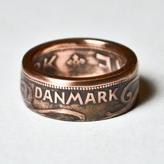 Hand made #Denmark #coin #ring from TheRingTree.