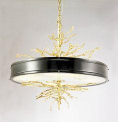 美式法式新古典后现代全铜树枝样板房设计师会所客厅卧室餐厅吊灯-淘宝网
