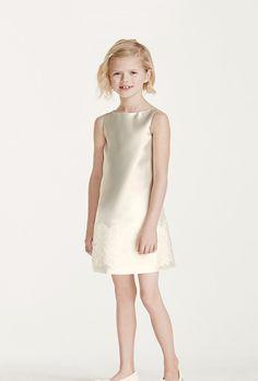 See more Flower Girl dresses at David s Bridal Tank mikado silk b86113f224b9