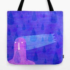 Raining Tote Bag By Inmyfantasia