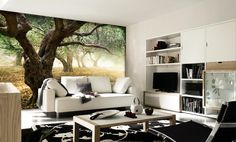 Photo realistic wallpaper for the living room...