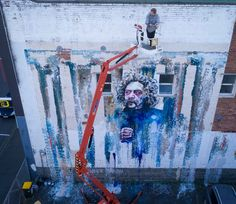 Well-known Dunedin muralist pays homage to iconic New Zealand artist New Zealand, Watercolour, Times Square, Artist, Pen And Wash, Watercolor Painting, Watercolor, Artists, Watercolors
