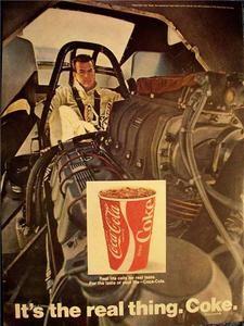 1970 COKE RACING AD/PICTURE/PRINT COCA COLA NHRA HEMI RODECK FUNNY CAR AHRA