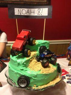Monster truck theme boys birthday party