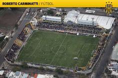 Estadio Roberto Nicolas Carminatti - Club Olimpo - Bahía Blanca (Buenos Aires) - Dimensiones 94m x 69m - Capacidad 20.000 espectadores - Construcción 1942