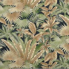 Tommy Bahama Outdoor Bahamian Breeze Coal Fabric - by the Yard Tommy Bahama Tropical Furniture, Tropical Interior, Tropical Home Decor, Tropical Colors, Tropical Pattern, Tropical Prints, Tropical Fabric, Tropical House Design, Tropical Houses