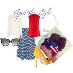Love this for the 4th! Americana Apostolic Style, created by emmyholloway on Polyvore
