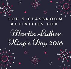 Plan lessons for #BlackHistoryMonth with 5 simple classroom activities about Martin Luther King, Jr. http://www.assignmenthelp.net/blog/martin-luther-kings-day-activities/