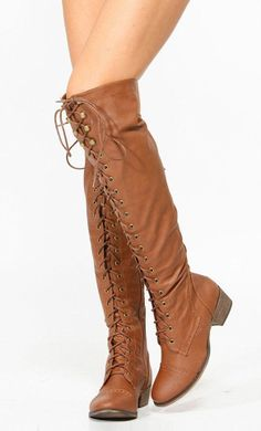 Brown Lace-Up Boots (:....i hv the perf dress for these....like them