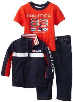 Amazon.com: Nautica Sportswear Kids Baby-boys Infant Zipup 3 Piece Jacket Set: Clothing