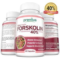 Pure Forskolin Extract - Weight Loss Supplement - with 40% Pure Forskolin Extract - Belly Buster - Appetite Suppressant - Best Fat Burners - For Women and Men - 60 All Natural 300mg Caps ** New and awesome product awaits you, Read it now : : Garcinia cambogia