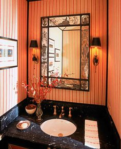 Small Bathroom Decorating Ideas | small-bathroom-decorating-ideas-wall-mirrors-wallpaper