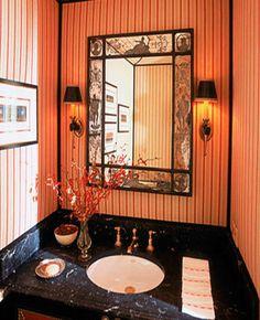 Small Bathroom Decorating Ideas | small-bathroom-decorating-ideas-wall-mirrors-wallpaper