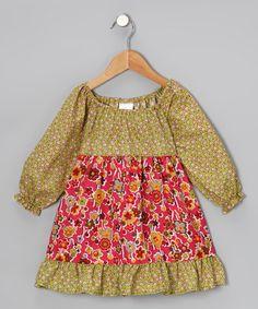 Look what I found on #zulily! Pink Daisy Pattycake Dress - Girls #zulilyfinds