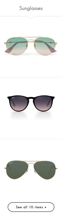 """Sunglasses"" by sweet-n-southern ❤ liked on Polyvore featuring accessories, eyewear, sunglasses, glasses, gucci, gold, retro style sunglasses, aviator sunglasses, retro sunglasses and gucci glasses"