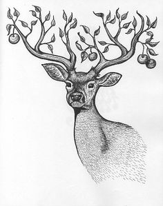 apple with antlers -