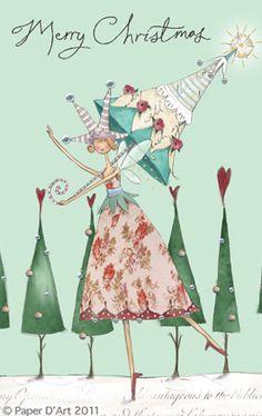 BoHogirl - Christmas illustration - artist Reuben McHugh