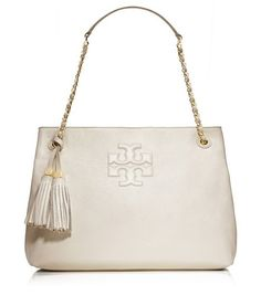 THEA CHAIN SHOULDER SLOUCHY TOTE - NEW IVORY