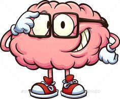 Art And Illustration, Character Illustration, Brain Drawing, Brain Art, Dark Drawings, Cartoon Drawings, Cartoon Images, Pug Life, Adjusting Glasses