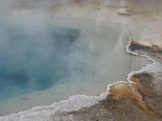 Views of Yellowstone | Cauldron and Geyser