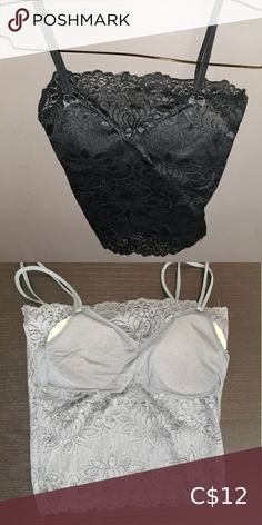 Shop Women's Gray size XS Crop Tops at a discounted price at Poshmark. In good condition. Top Colour, Gray Color, Plus Fashion, Fashion Tips, Fashion Trends, Crop Tops, Tank Tops, Camisole Top, Bra