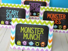 New Years Party 🎉 - New Year's party ideas - Decorations Monster Party Food 1st Birthdays, 1st Birthday Foods, 1 Year Old Birthday Party, Boys 1st Birthday Party Ideas, Second Birthday Ideas, 1st Boy Birthday, First Birthdays, Monster Themed Food, Monster Food