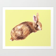 Lemon Bunny Art Print by eastwitching, Society6
