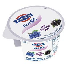 Fage Greek Yogurt packs with Blueberry Acai. 120 calories, 13g protein.