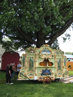A fabulous Gavioli fairg round organ typical of those which graced dance floors inside and outside, as well as carnivals, etc.
